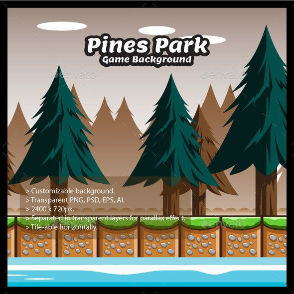 Pines Park Game Background with Tiles
