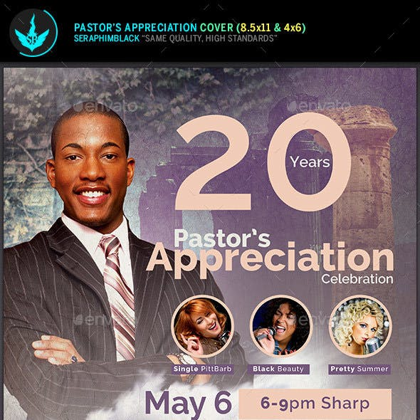 Modern Pastor's Appreciation Flyer Template 2