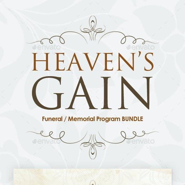 Funeral / Memorial Program Templates - BUNDLE V.2