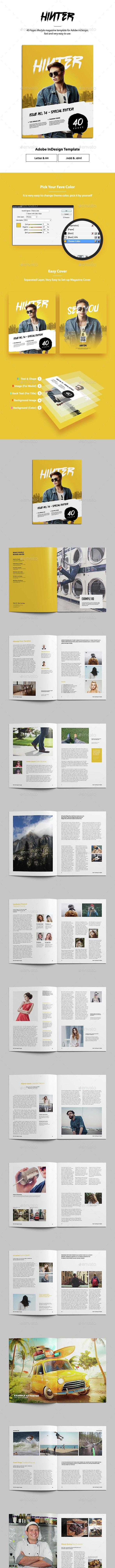 Hinter Lifestyle Magazine Template - Magazines Print Templates