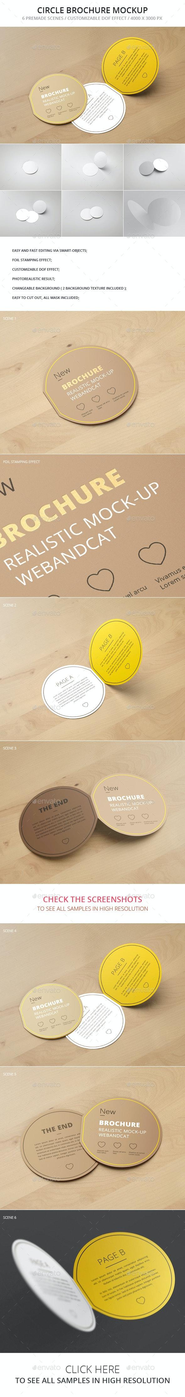 Circle Bi-Fold Brochure Mockup - Brochures Print