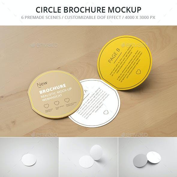 Circle Bi-Fold Brochure Mockup