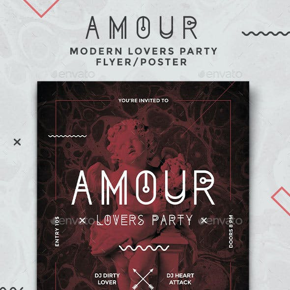 Amour - Modern Party Flyer/Poster