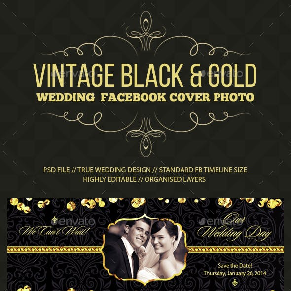Wedding/Save the Date Facebook Cover Photo