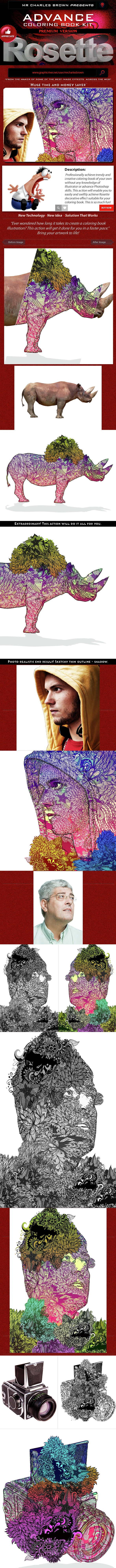 Advance Coloring Book Kit – Rosette - Photo Effects Actions