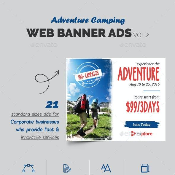 Adventure Camping Web Banner Vol.2