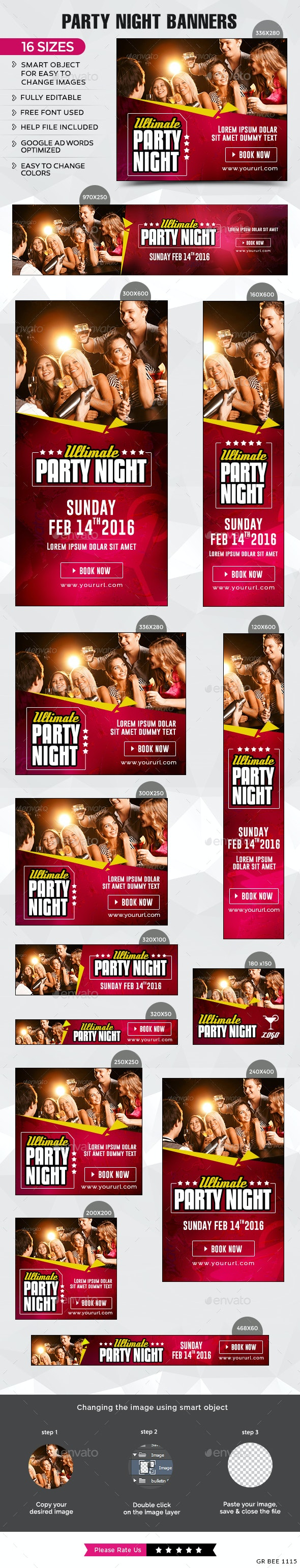 Party Banners - Banners & Ads Web Elements