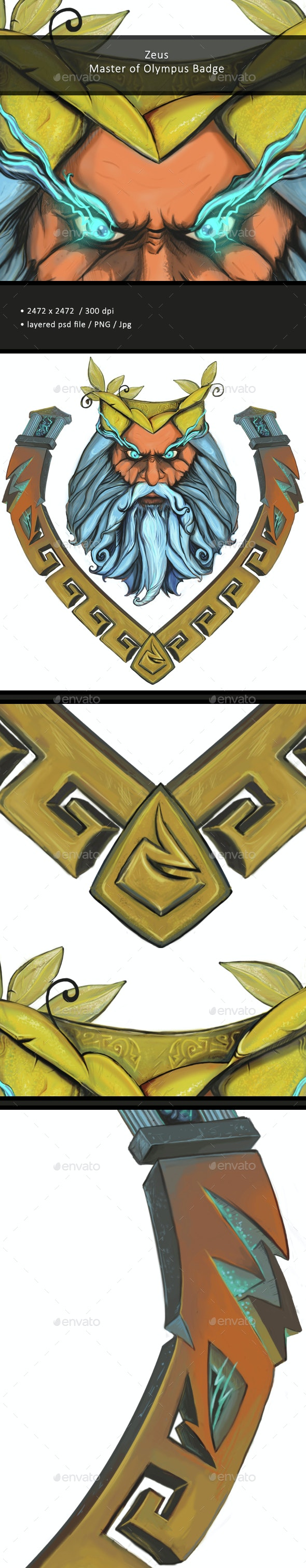 Zeus / Badge / Drawing - Miscellaneous Backgrounds