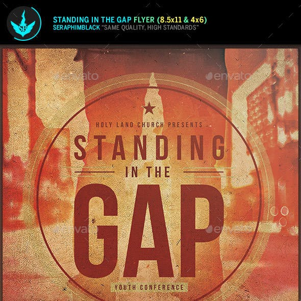 Standing in the Gap Church Flyer Template