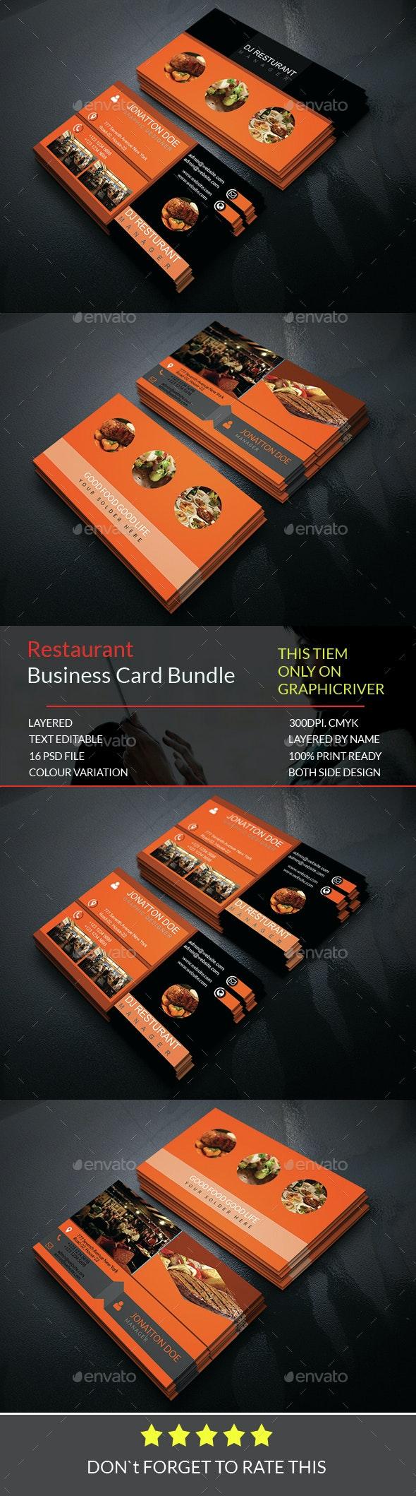 Restaurant Business Card Bundle.018 - Business Cards Print Templates