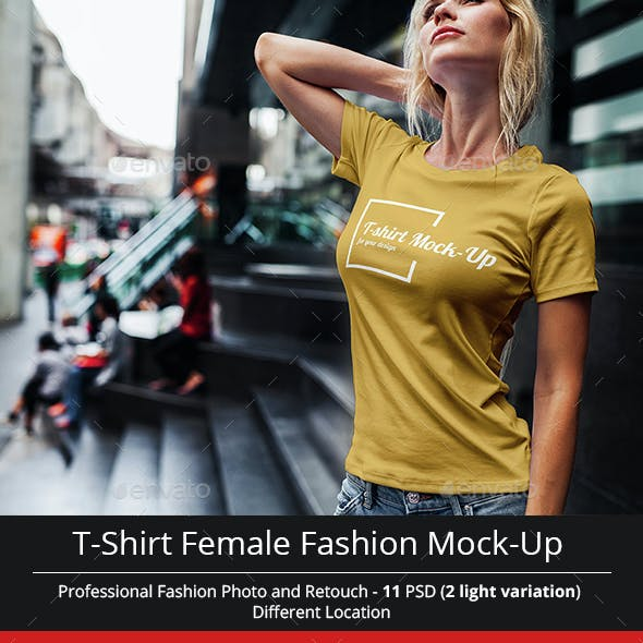 Female T-Shirt Fashion Mock-Up
