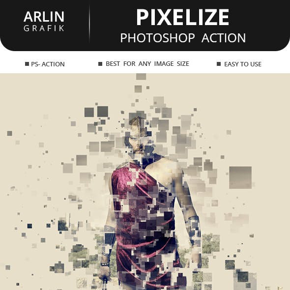 Pixelize Photoshop Action