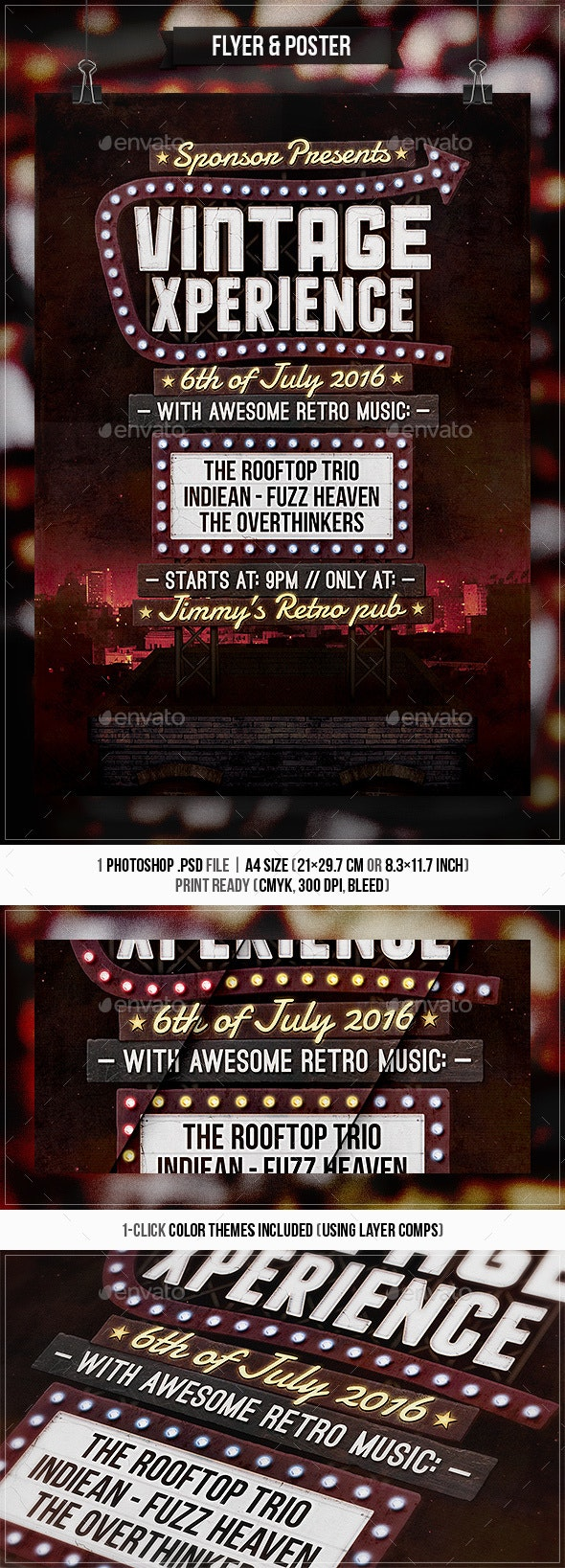 Rooftop Sign - Flyer & Poster - Concerts Events