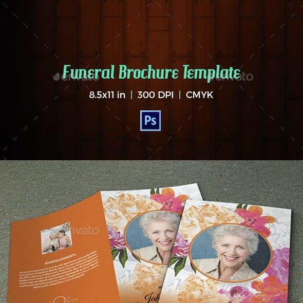 Floral Funeral Program Template-V02