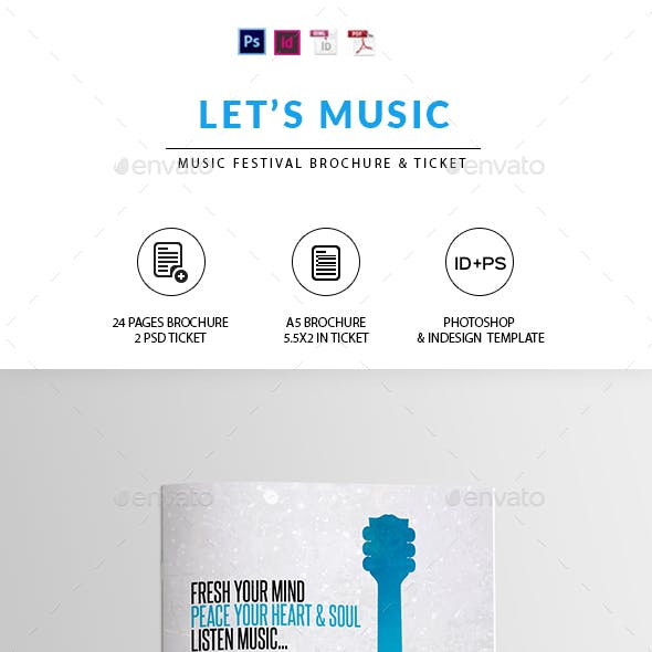 Music Festival Brochure | Indesign & Photoshop Template