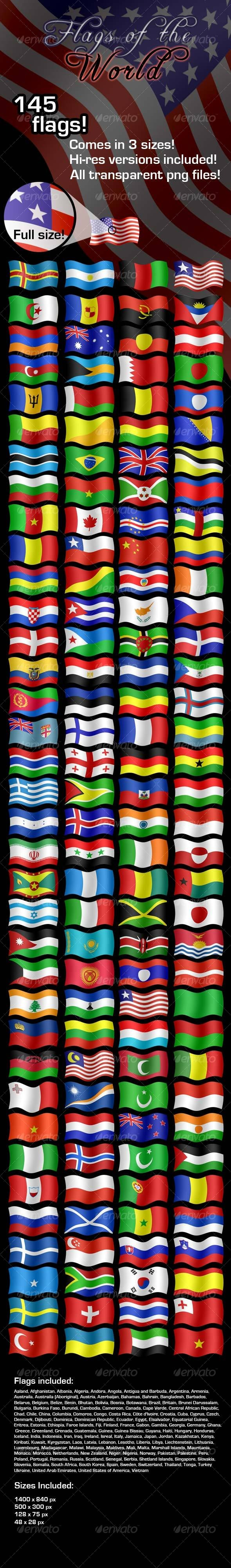 Flags of the World - Miscellaneous Icons