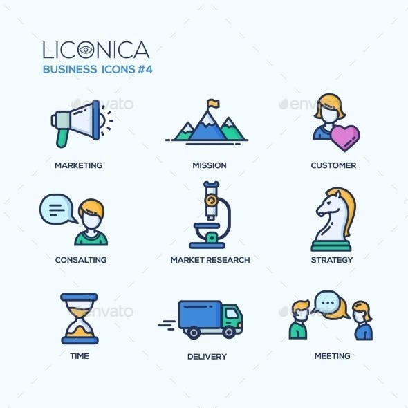 Office Business Thin Line Design Icons