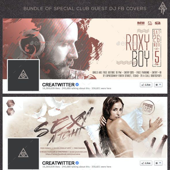 Bundle of Special Club Guest DJ Facebook Covers