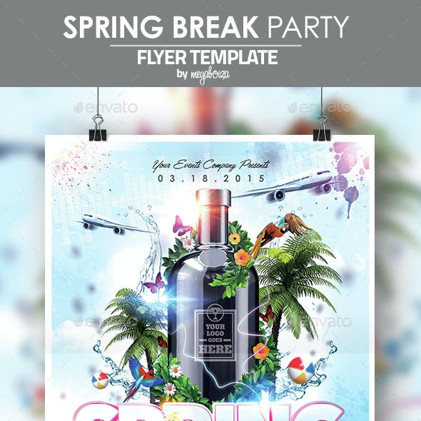 Spring Break Party Flyer / Poster Template