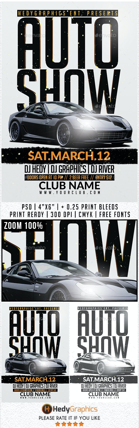 Auto Show - Flyer Template - Events Flyers