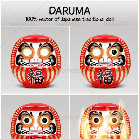Daruma - vector of Japanese traditional doll