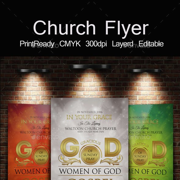 The Kingdom of God Church Flyer Template