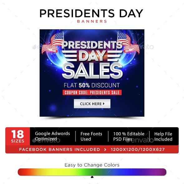 President Day Banners