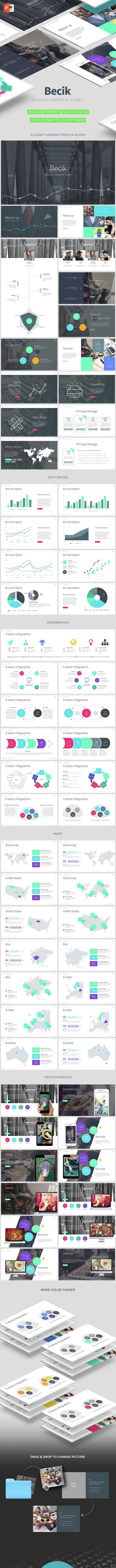Becik - Creative Powerpoint Template - PowerPoint Templates Presentation Templates