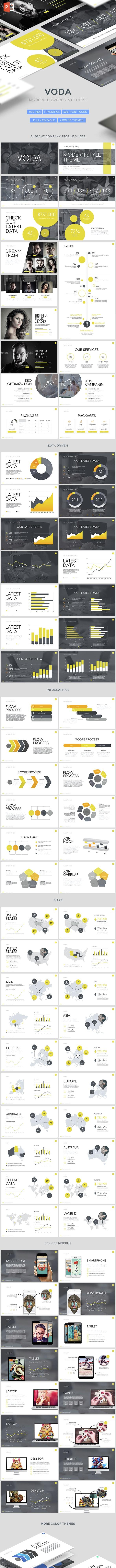 Voda - Creative Powerpoint Template - PowerPoint Templates Presentation Templates