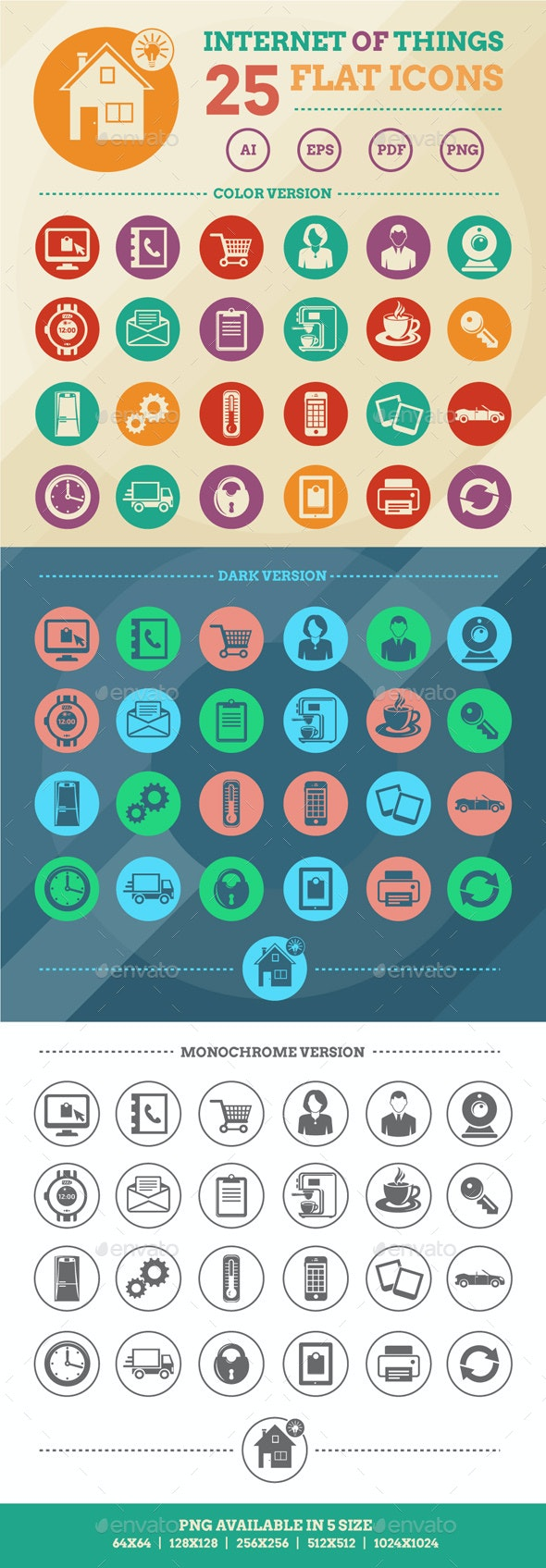 Internet Of Things And Smart Home Icons - Technology Icons