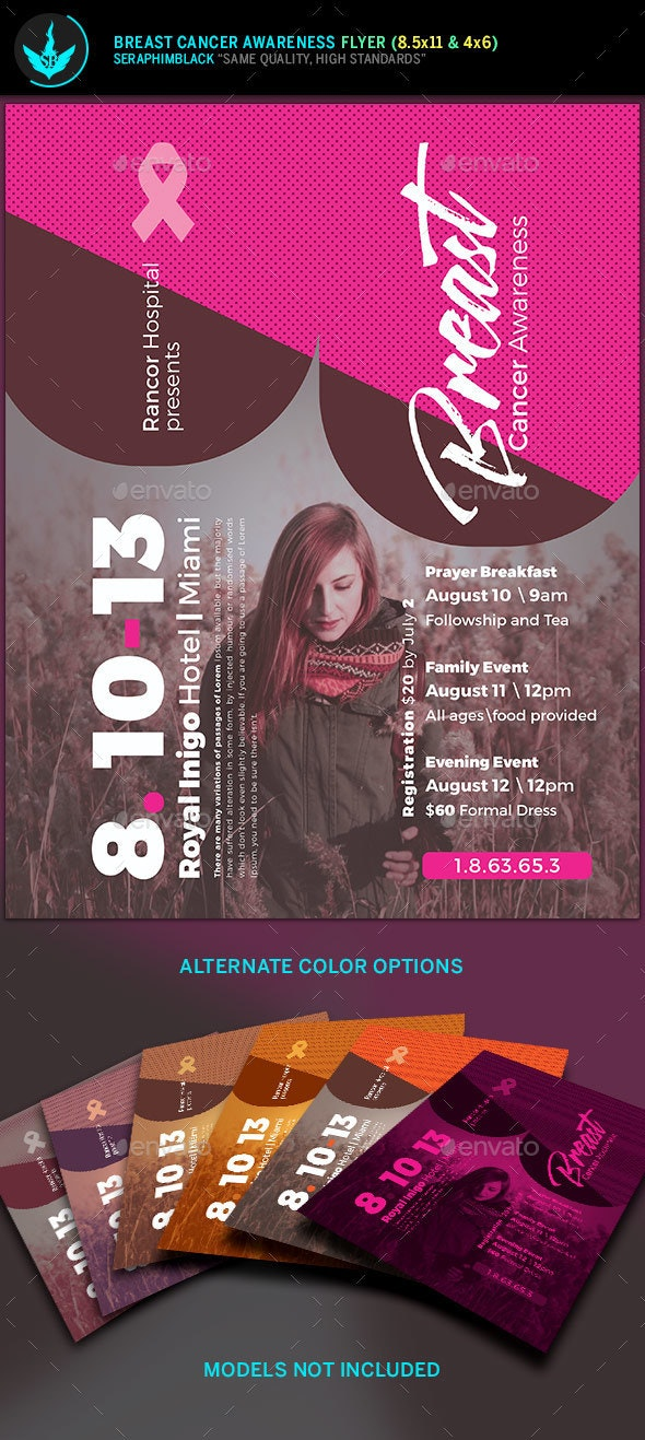 Breast Cancer Awareness Flyer Template - Events Flyers