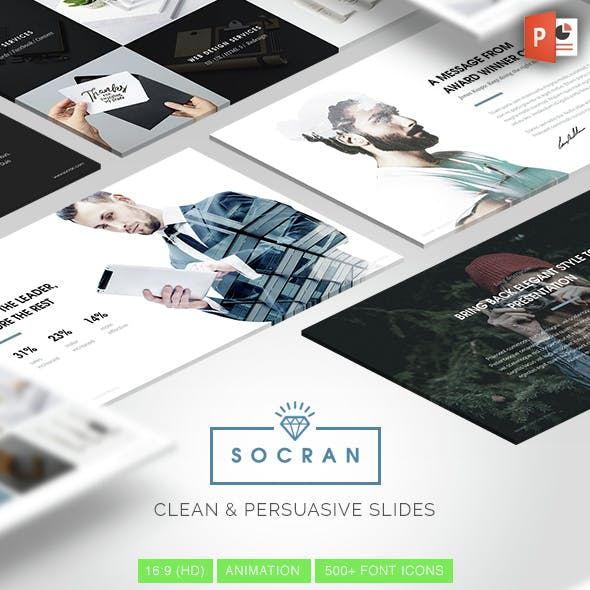 SOCRAN - Clean & Modern Powerpoint Template