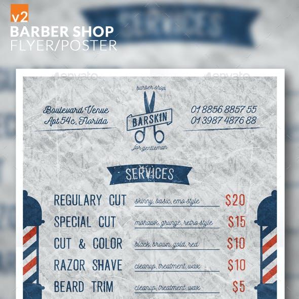 Barber Shop Flyer/Poster v2