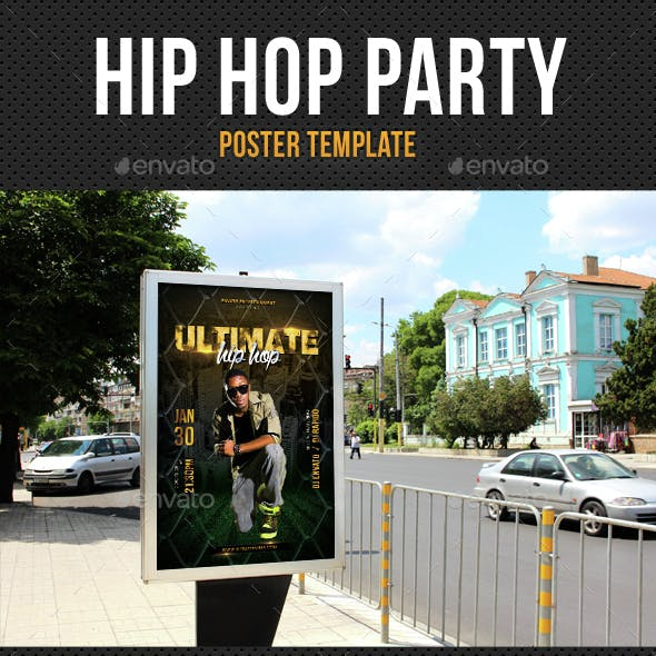 Hip Hop Ultimate Party Event Poster
