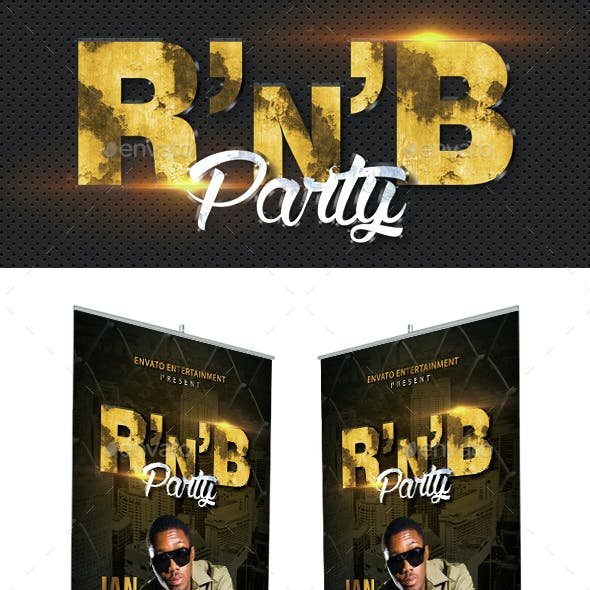 RnB Hip Hop Party Event Banner