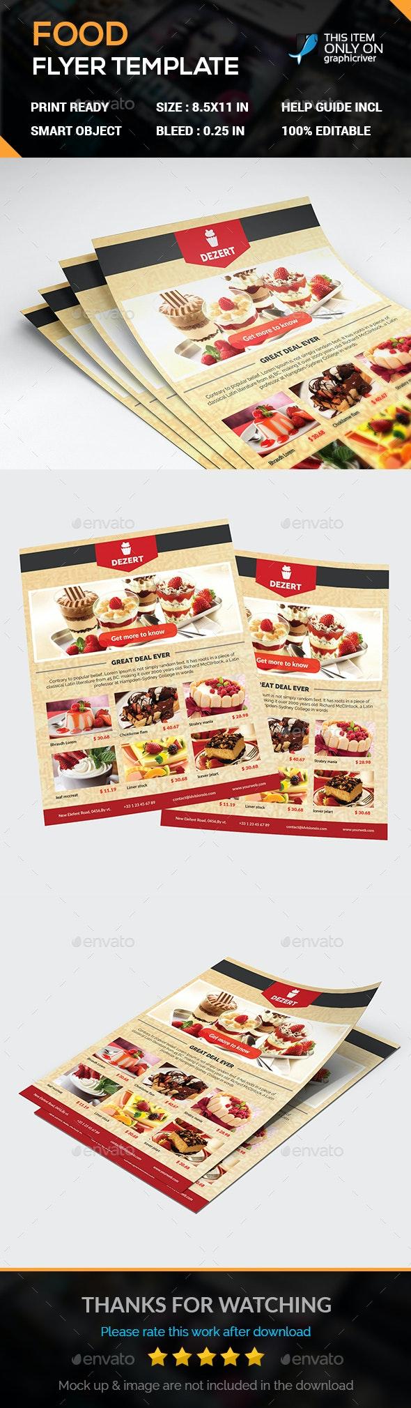 FOOD Flyer - Flyers Print Templates