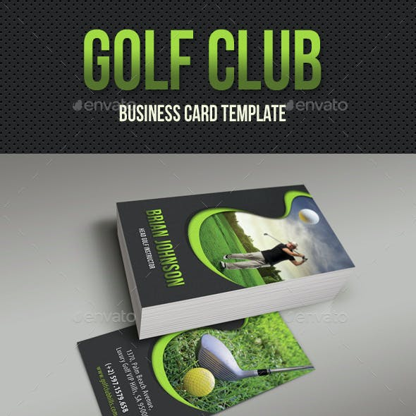 Golf Club Business Card 03