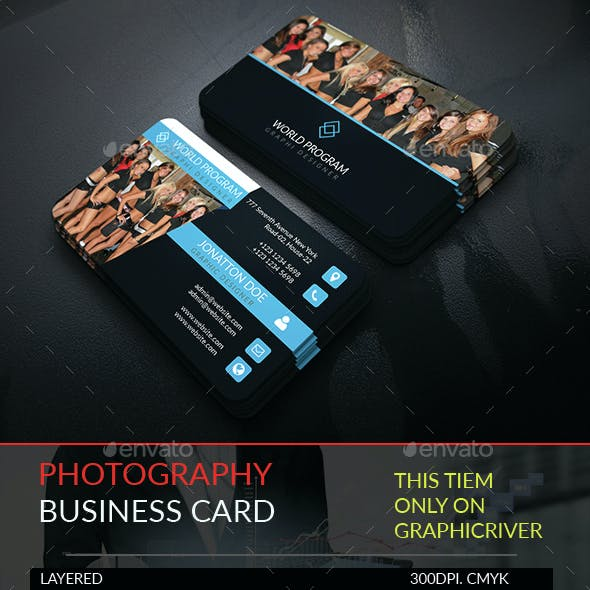 Photography Business Card Template.245