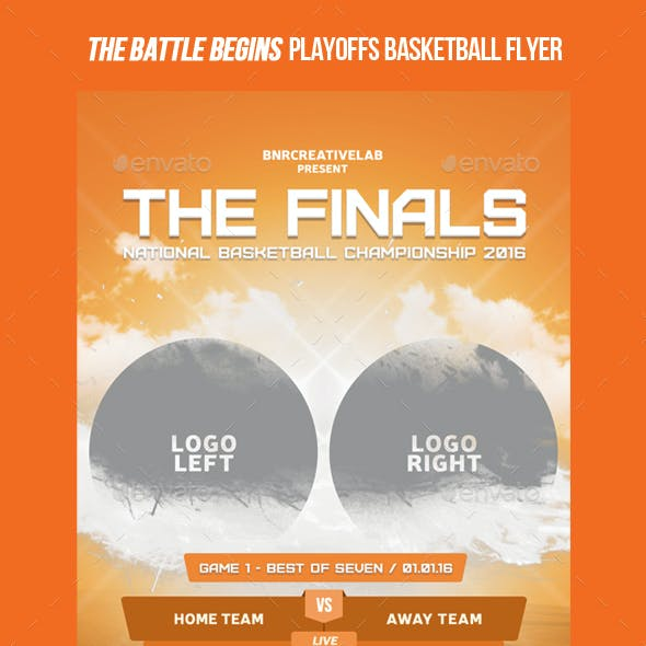 The Finals Basketball Promo Flyer