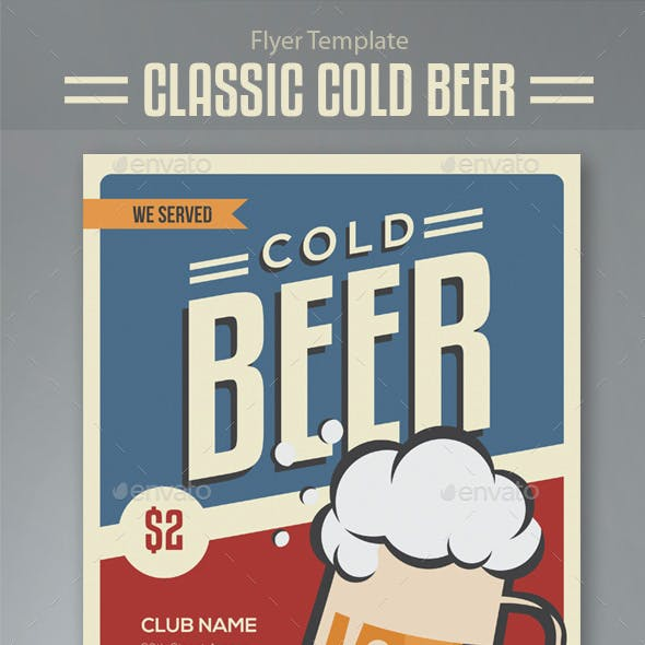 Classic Cold Beer Flyer Template
