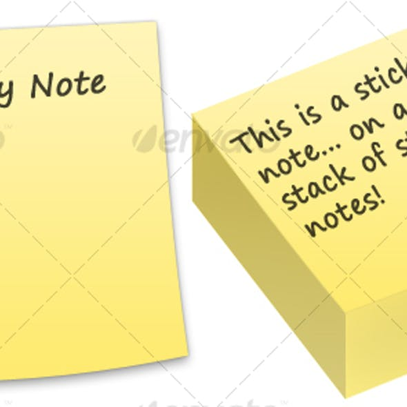 Sticky Notes [5 Colours + Singular and in Stack]
