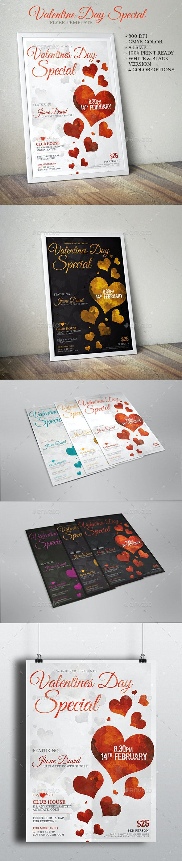 Valentines Day Special Party Inviation Flyer Poster Template - Miscellaneous Events