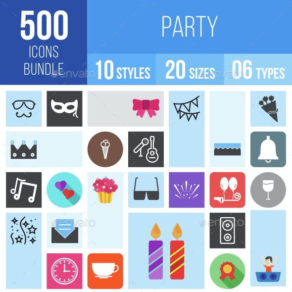 500 Party Icons Bundle