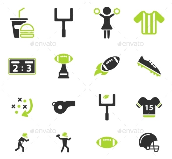 American Football Simply Icons - Icons