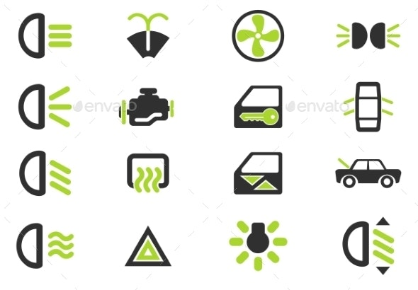 Car Interface Sign - Icons
