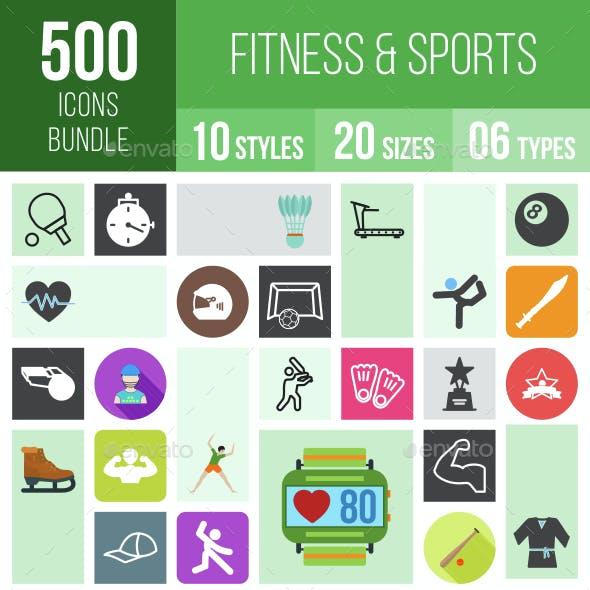 500 Fitness & Sports Icons Bundle