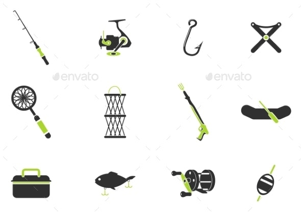 Fishing Icon Set - Icons