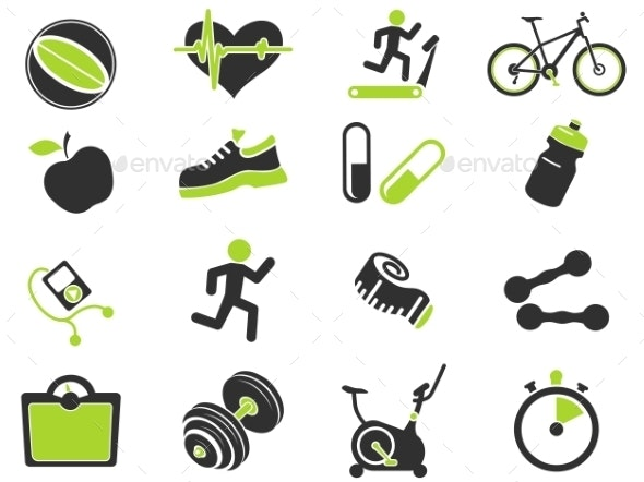 Set Of  Icons On Fitness. - Icons