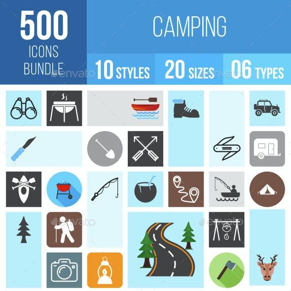 500 Camping Icons Bundle