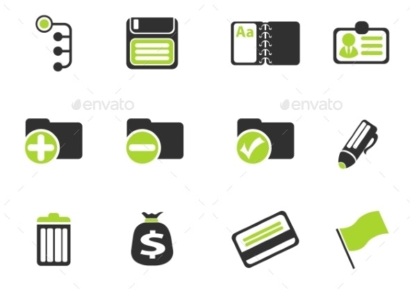 Office Simple Vector Icons - Icons